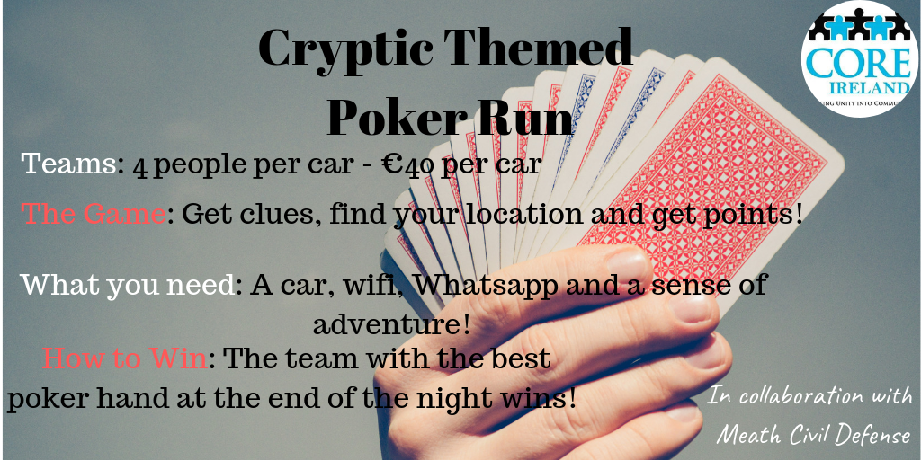 Cryptic Themed Poker Run
